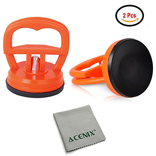 - ACENIX [ Twin Pack ] 2 Pcs LCD Screen Opening Heavy Duty Dent Remover Sucker Puller Suction Cup For iMac iPhone iPad iPod Samsung, Samsung Tab [ iNcluded Cleaning Cloth ]