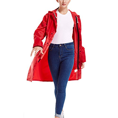 Price comparison product image Rain Suit- Drawstring Raincoat Hoods Sleeves Outdoor Work Rain Ponchos Women Men -Waterproof / Reusable / Portable zm (Size : L)