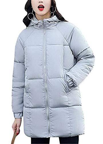 Chemine Stepp Femme lgant Longues Warm paissir Hiver Doudoune Fashion Costume Elgante Dsinvolte Manches Longues  Capuchon Parka Doudoune Manteau De Haute Qualit Grau