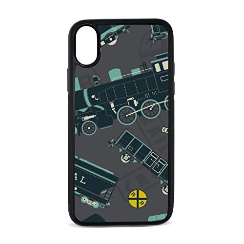 Case for iPhone Locomotive Transportation Cool and Handsome Digital Print TPU Pc Pearl Plate Cover Phone Hard Case Cell Phone Accessories Compatible with Protective Apple Iphonex/xsCase 5.8 Inch ()