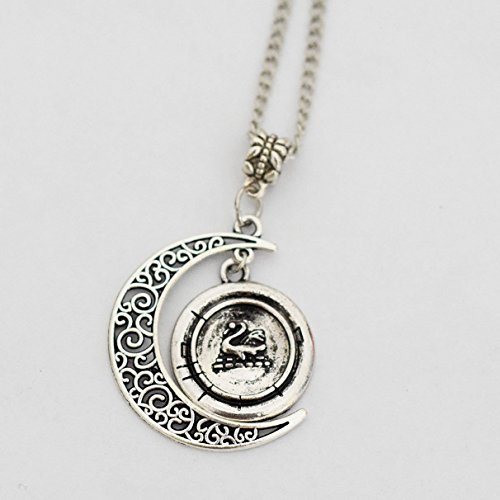 Charm Cresent Once Upon a Time Character Emma Swan Inspired (Snow White Necklace Once Upon A Time)