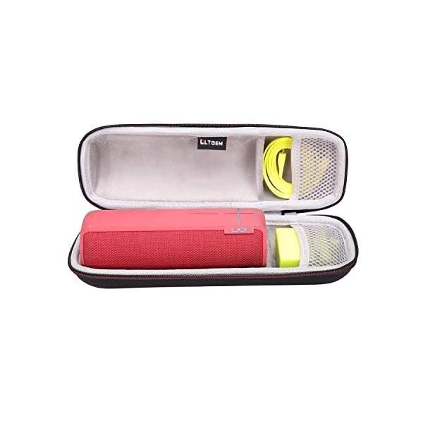 LTGEM EVA Étui rigide Sac de rangement de voyage pour Ultimate Ears UE BOOM 2 / UE BOOM 1 Haut-parleur portatif sans fil Bluetooth. Compatible avec câble USB et chargeur mural 2