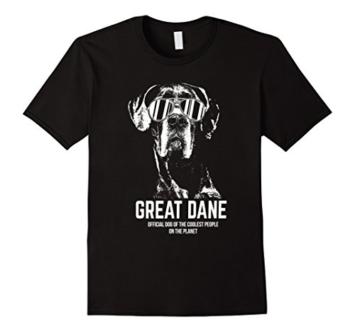 Men's Great Dane Shirt Official Dog of the Coolest People XL Black