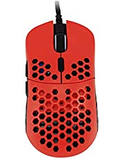 HK Gaming Mira S Ultra Lightweight Honeycomb Shell Wired Gaming Mouse - 6 Buttons - 61g (Up to 12000 cpi, Monza)