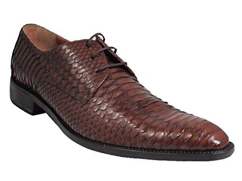 Toscan Italian Designer Mens 2463 Scarpe Stringate Di Pelle Di Serpente