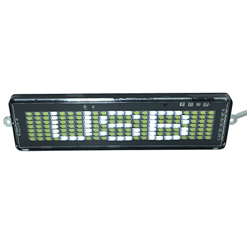 D Scrolling Sign - DC 5V USB - Programmable by Remote Controller - Indoor & Outdoor, Store, Car, Office, Home.(White) ()