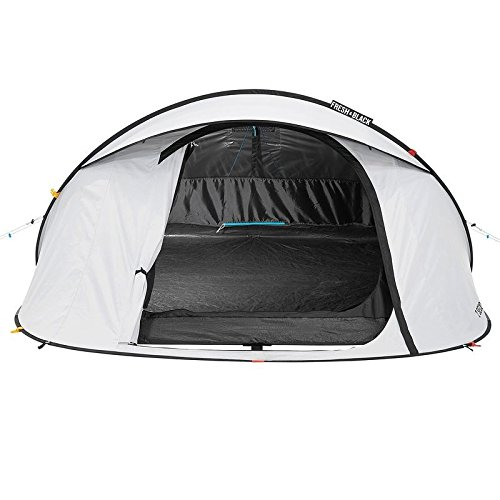 Quechua 2 Seconds Easy III Fresh & Negro 3 Man impermeable ...