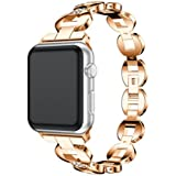 NewKelly Bracelet Stainless Steel Band Wrist Watch Strap For Apple Watch 3 42mm Loop Watch Band For Apple Watch 3 42mm Replacement Band for Apple Watch 3 42mm (B)