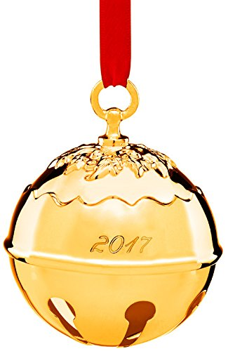 Reed & Barton Holly Bell 2017-Goldplated Ornament (Reed Bell Barton Holly &)