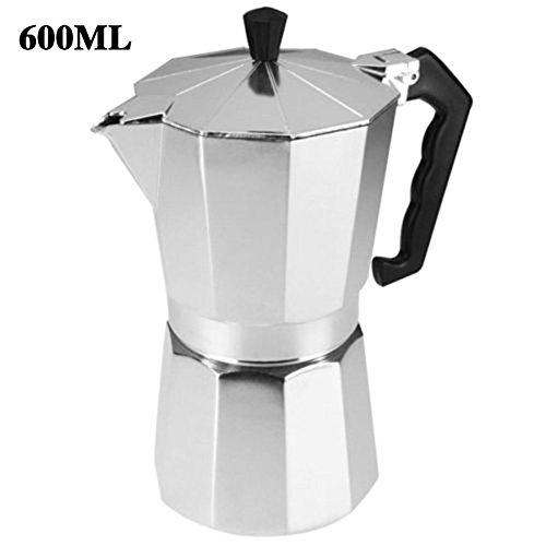 Maphissus Espresso Stove Top Coffee Maker - Continental Moka Percolator Pot - 2, 6, 9, 12 (600ML)