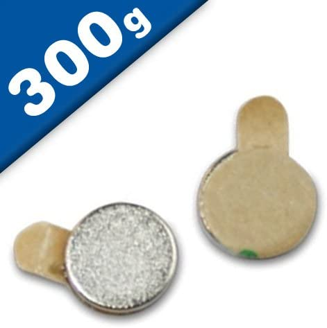 NdFeB Imanes redondos extra potentes de Neodimio adhesivos fuerza 300 g 50 piezas Niquelado 60 x Disco magn/ético autoadhesivo /Ø 6 x 1 mm Neodimio N45