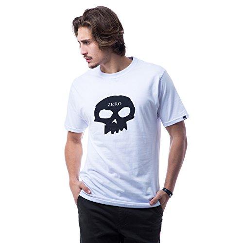Camiseta Zero Classic Skull - Branco - Gg
