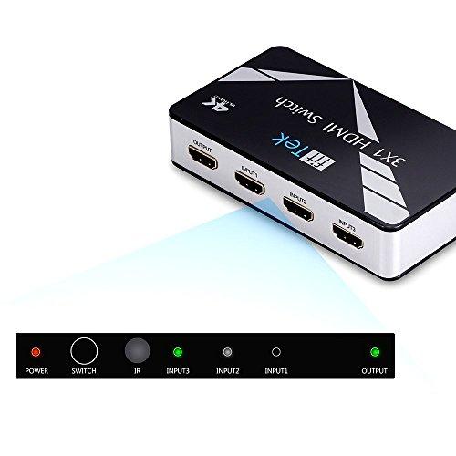 Hdmi Splitter, fitTek ® 4 port HD 102 Powered Hdmi Switch With IR Wireless Remote