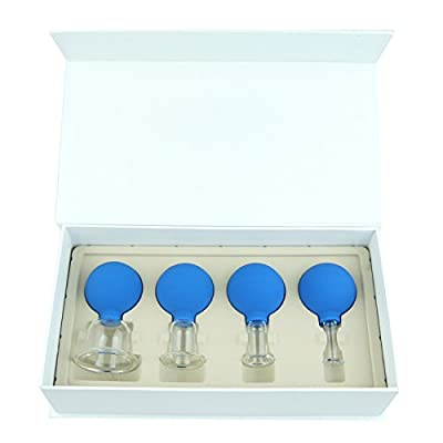 Face & Body Glass Vacuum Cupping Therapy Gift Set - Best Quality in Class Massage Cups - Professional and Home Spa
