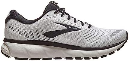 Brooks Men s Ghost 12 White Grey Black 9.5 2E US