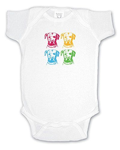 Artistic Screen #2346-4 Our Andy Warhol Styling On This White, 100% Cotton Infant Bodysuit.Sizes 3-24 months by Artistic Screen