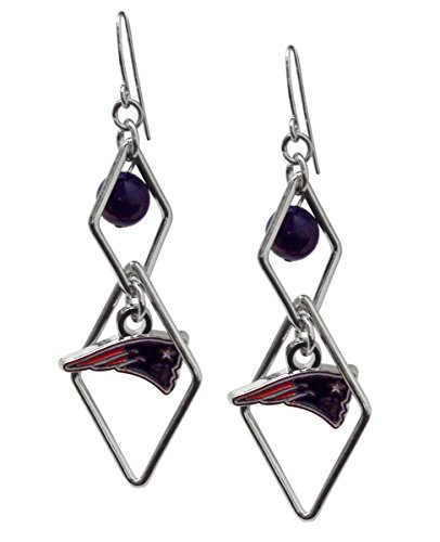 (NFL New England Patriots Triangle Logo Dangler Earrings)