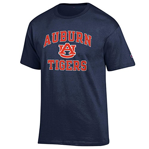Champion NCAA Men's Shirt Short Sleeve Officially Licensed Team Color Tee, Auburn Tigers, X-Large