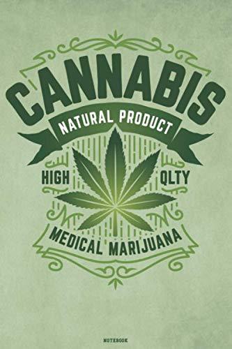 41whuAKs3FL - Cannabis Natural Product High Qlty Medical Marijuana Notebook: Cannabis Journal Marijuana Composition Book Weed Logbook cbd Birthday gift
