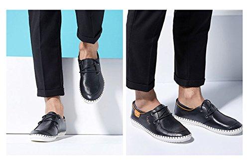 Hombre Para De De Black Llana MUYII Oxfords Sport De Casual Punta Zapatos Deportivos Zapatos Zapatos Cuero Hombre anXIIxqH