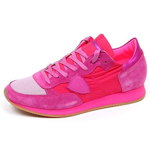 Woman Suede Shoe Philippe Donna Sneaker E8942 tissue Fucsia Fuxia Tropez Model Scarpe wz0vqwT