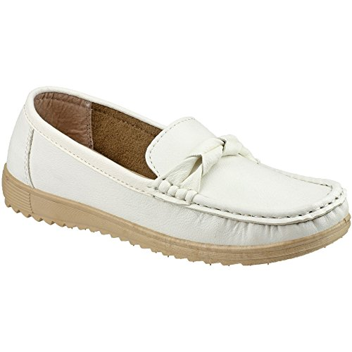 Amblers Paros Damen Sommer Schuh Navy Damenschuhe Damen Schuh Sommer Pu Neu White