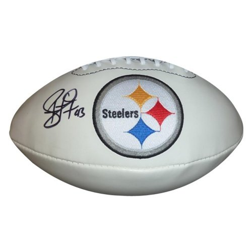 Troy Polamalu Autographed Pittsburgh Steelers Logo Football - Polamalu (Troy Polamalu Hand Signed)