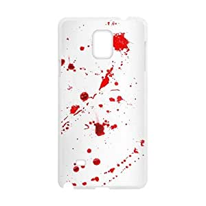 Samsung Galaxy Note 4 Cell Phone Case White Dexter Blood EFM Cell Phone Screen Cover