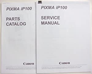 Canon pixma ip100 parts and service manual.