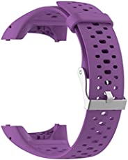 Shan-S 20mm Band Compatible for Polar M400/M430 Smart Watch, Soft Sports Silicone Bands with Hole Ventilate Re