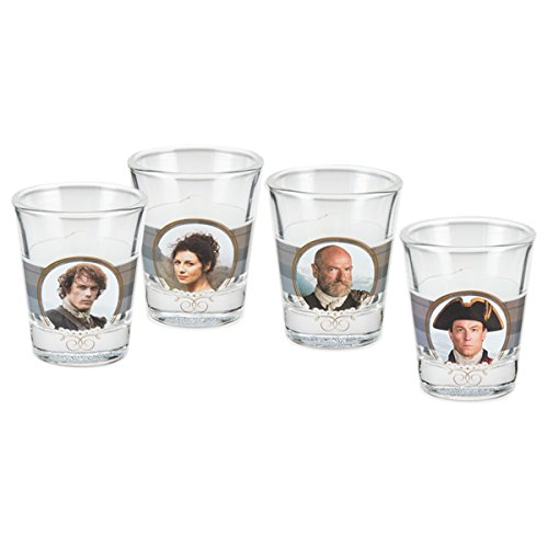 Vandor 81018 Outlander Shot Glasses, 4 Piece Set, Multicolored