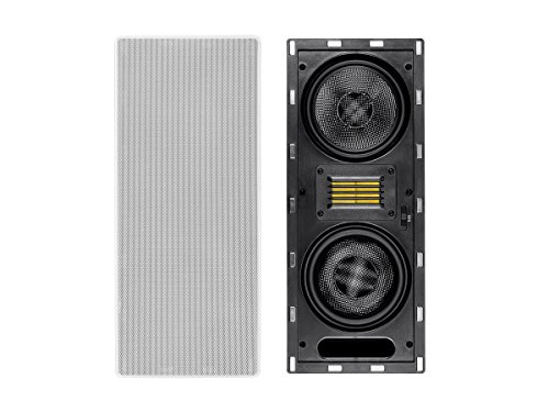 Amber 6.5-inch Carbon Fiber 3-way In-Wall Column Speaker wit