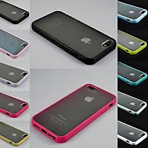 YXF Transparent Design Durable Hard Case for iPhone 4/4S (Assorted Colors) , Blue