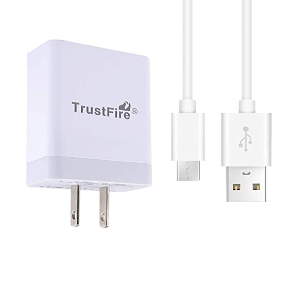 TrustFire 5V 4A Fast Charging USB Charger Wall Power Adapter for Oneplus 6T  5T 3T, Huawei P10 Mate 9 and Other Type C Port Phones