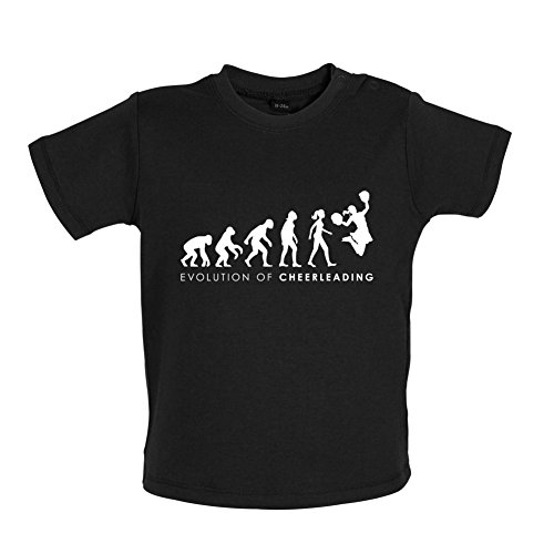 Dressdown Evolution of Woman Cheerleading - Baby T-Shirt - Black - (Cheers Ladies Tee)