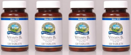 Naturessunshine Vitamin B6 Supports Nervous System 50 mg 120 Tablets (Pack of 4)