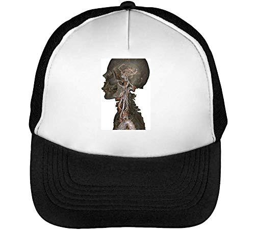Human Skeleton Mri Scan Gorras Hombre Snapback Beisbol Negro Blanco