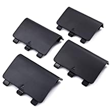 VOGADA Replacement Battery Back Cover for Xbox One, Battery Cover Door for Xbox One/Xbox One S Controller, Repair Shell Cover Part for Xbox Wireless Controller (Black, 4 Pack)
