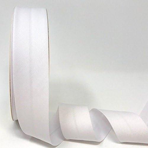 3/% elastano//97/% algod/ón Byetsa Cinta el/ástica para bies de 30 mm en rollo de 25 m color blanco