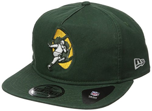 NFL Green Bay Packers Historic Team Washed A-Frame Snapback Cap, One Size, Green