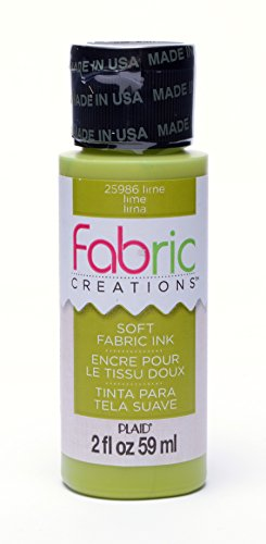 Fabric Creations Fabric Ink in Assorted Colors (2-Ounce), 25986 Lime ()