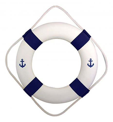 50 cm maritime Deko Rettungsring im Antiklook bemalt