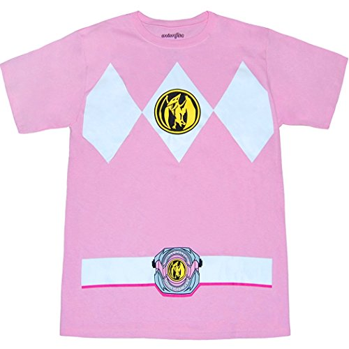 Mighty Morphin Power Rangers Pink Ranger Costume T-Shirt-XX-Large by Mighty Fine (Image #1)