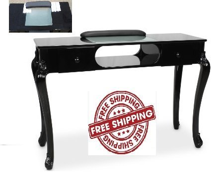Manicure Table FIONA BLACK Nail Salon Furniture Queen Rise Style Salon Nail Table Salon Furniture & Equipment by Berkeley
