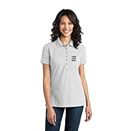 Ladies Stretch Pique Polo |36 Qty | 33.16 Per | Promotional Product w/Your Logo