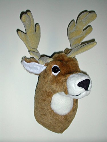 "Plush Deer Head""Buckley"" Medium Trophy Mount made in Maine"