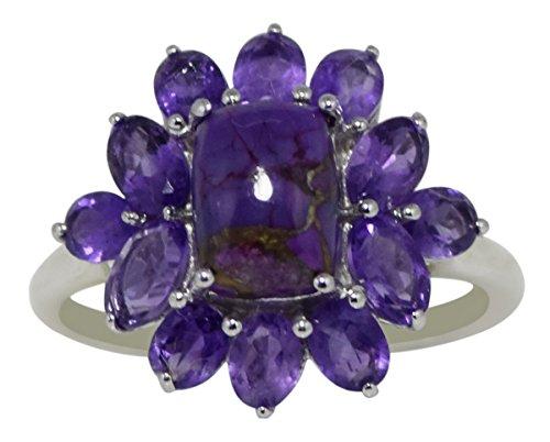 Banithani 925 ametyhyst en argent pur et la bague en pierre turquoise violet indien bijoux fantaisie