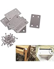 VinBee 20 PCS Flat Metal Straight Brace Bracket,1.5mm Thickness Metal Flat Straight Mending Plates Fixing Corner Brace (2.4 x 1.5 Inches)