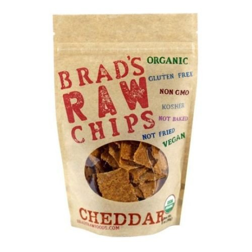 Brad's Raw Chips, Cheddar Vegan Snack (Gluten Free & Organic), Buy TWELVE and SAVE per Bag, Each Bag is 3 Ounces (Pack of 12)