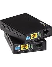 StarTech.com 10/100 Mbps VDSL2 Ethernet Extender Over RJ11 Phone Line Kit - 1km Network Extender - Long Range VDSL Ethernet Extender Over Copper (110VDSLEXT)